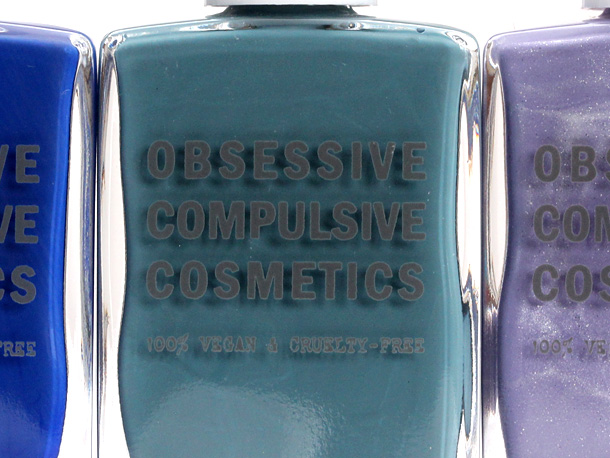 Obsessive Compulsive Cosmetics Sci-Fi Lullabies Nail Lacquers in Pond, Videodrome and Electric Sheep closeup