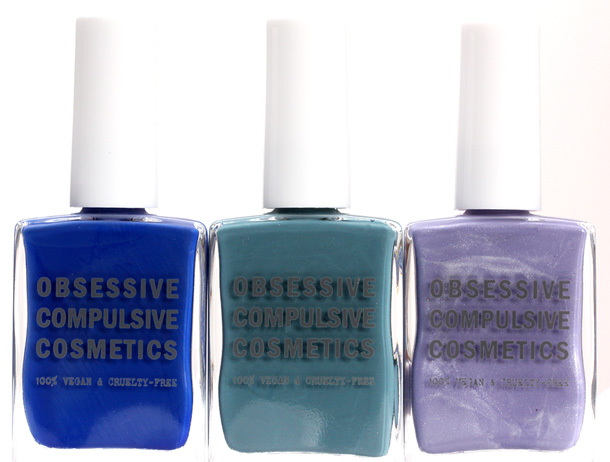 Obsessive Compulsive Cosmetics Sci-Fi Lullabies Nail Lacquers in Pond, Videodrome and Electric Sheep