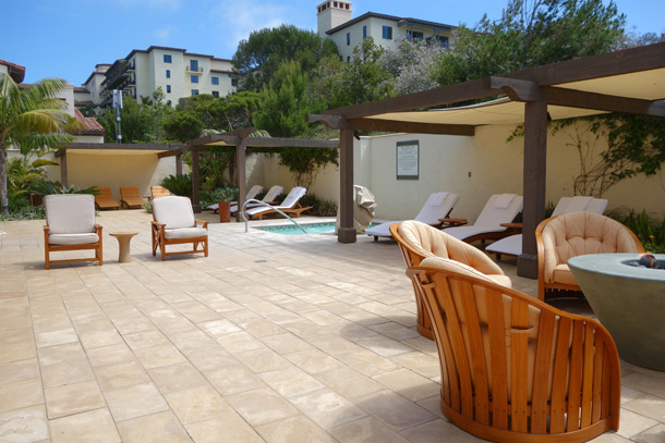 Terranea Spa Review outdoor lounge area with jaccuzzi