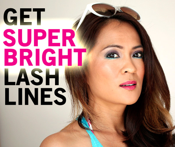 How to get super bright lash lines