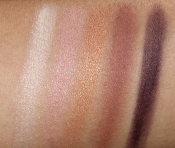 Clarins Splendours Colour Quartet Eye liner Palette Swatches