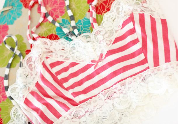 Kensie Jamie Bralette Stripes 4