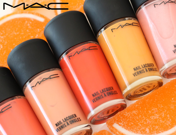 MAC All About Orange Nail Polish Swatches