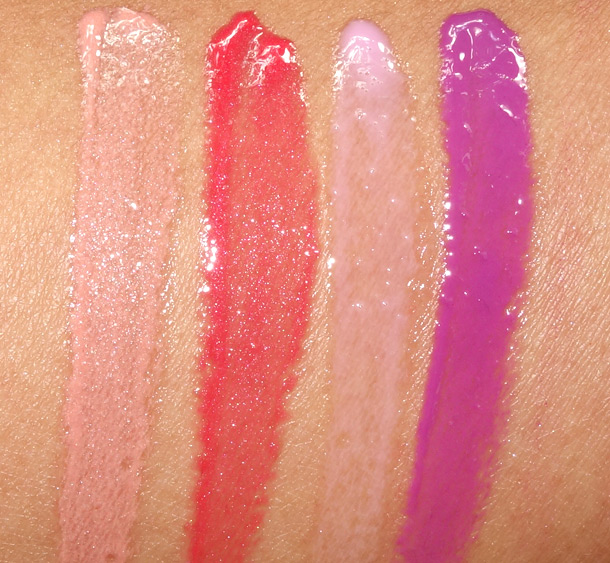 MAC Tropical Taboo Swatches Cremesheen Glass