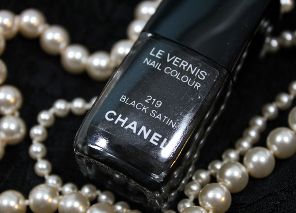 Chanel Black Satin Nail Polish