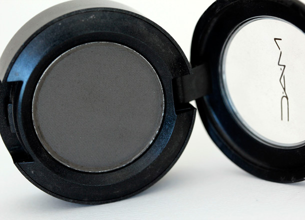 MAC Ashbury Eye shadow, a matte taupey gray from the MAC Mod collection (1990)