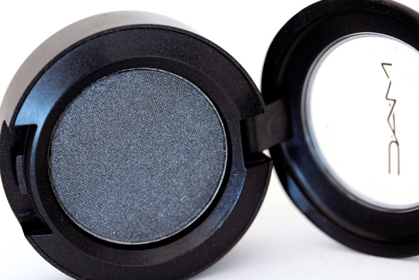 MAC Diesel Eye Shadow, a cool gray with a frosty finish from the Colour Abstractions/Additions collection (1997)