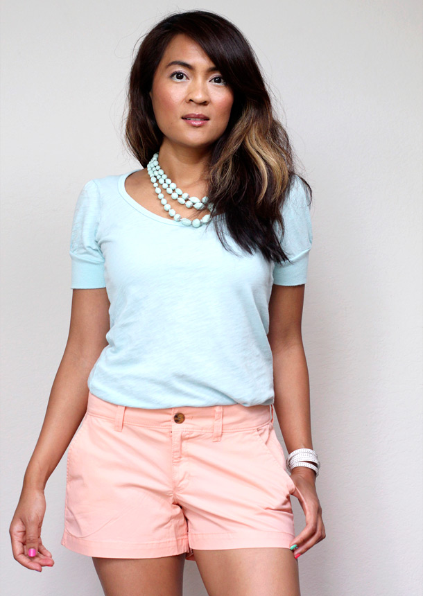 Peach shorts by Old Navy