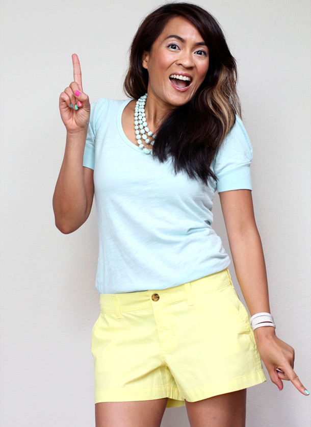 Yellow shorts by Old Navy