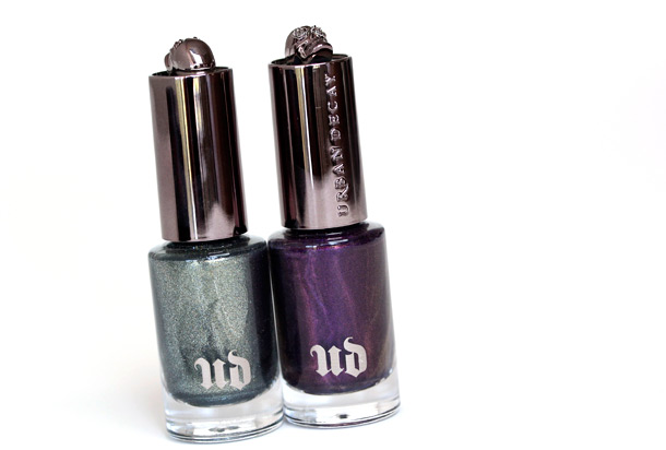 Urban Decay Nail Colors in Addiction (left) and Vice (right)