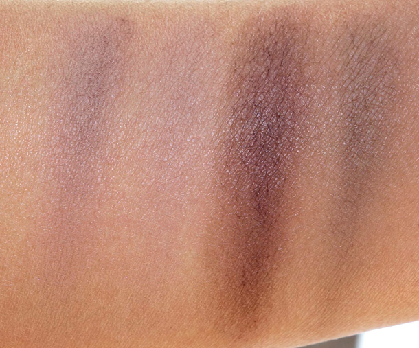 Urban Decay Brow Box Swatches: Honey Pot (left) and Brown Sugar (right)