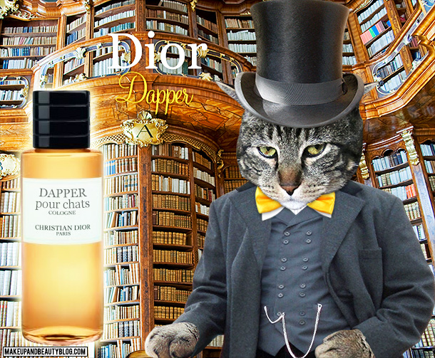Tabs the Cat for Dior Dapper Cologne