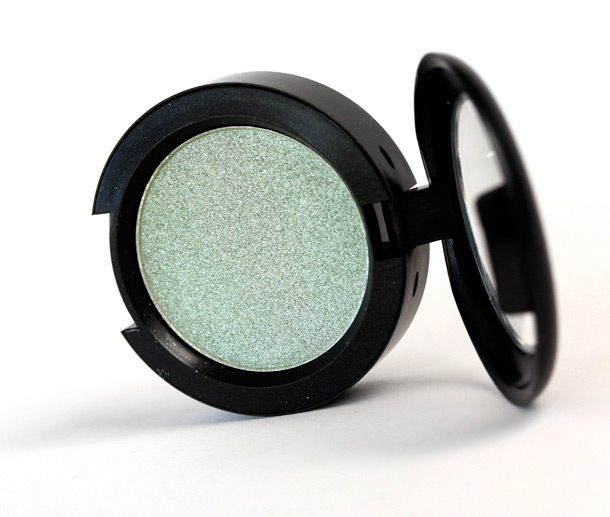 MAC Lime Ice Pressed Pigment, a seafoam green with a frost finish