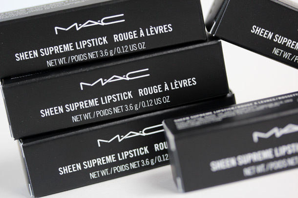 MAC Sheen Supreme Lipsticks Boxes