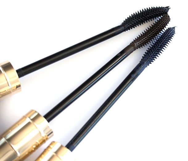 Dolce Gabbana Passioneyes Mascara wands from the left: Nero, Terra and Blue Indaco