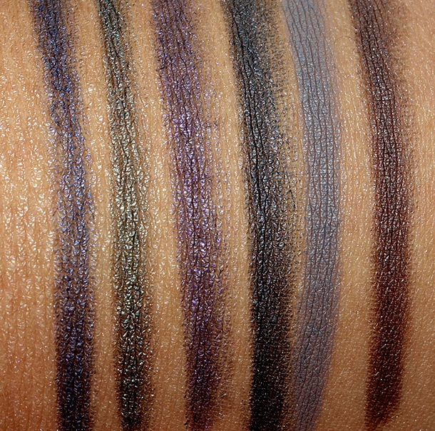 Urban Decay Black Market swatches