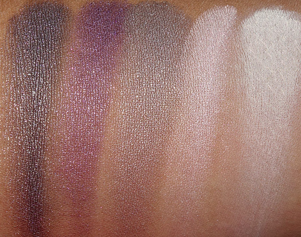 Urban Decay Shattered Face Case Swatches eyeshadows