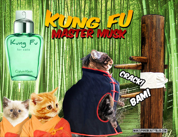 Tabs the Cat for Calvin Klein Kung Fu Master Musk