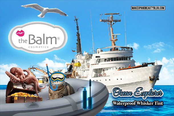 Tabs the Cat for theBalm Ocean Explorer Waterproof Whisker Tint