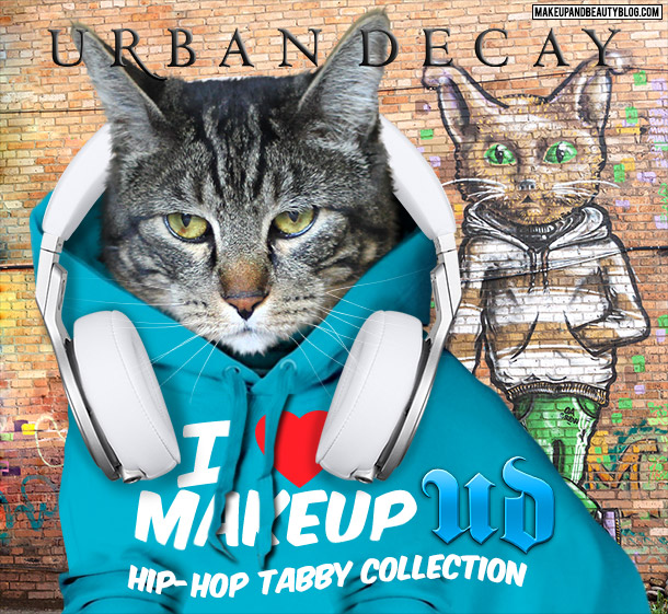 Tabs the Cat for the Urban Decay Hip-Hop Tabby Collection