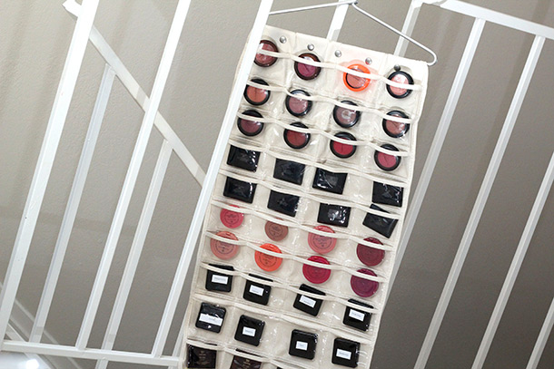 Makeup Storage Ideas Hanging Jewelry Organizer for Blush Storage