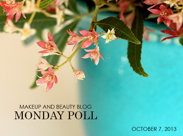 Makeup and Beauty Blog Monday Poll for October 7, 2013