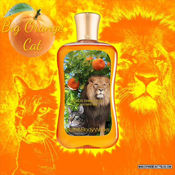 Tabs the Cat for Bath & Body Works Big Orange Body Wash