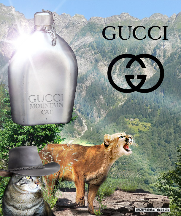 Tabs the Cat for Gucci Mountain Cat Cologne