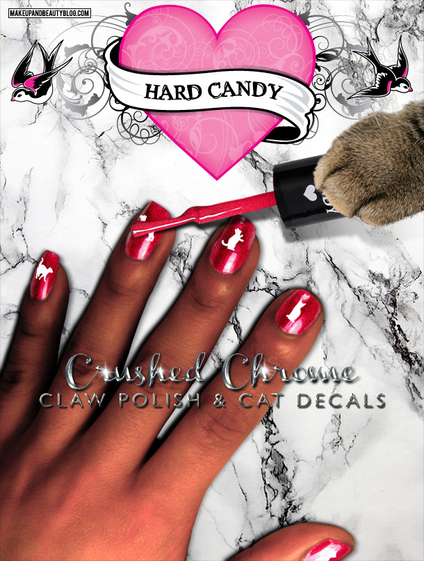 Tabs the Cat for Hard Candy Crushed Chrome Claw Polish