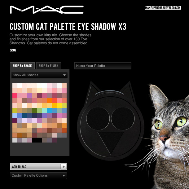 Tabs the Cat for MAC Custom Cat Eye Palette X3