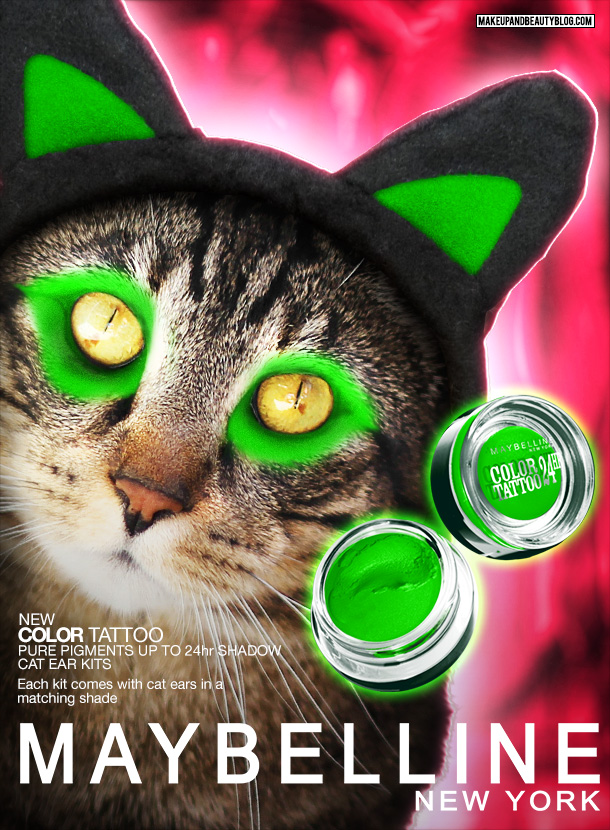 Tabs the Cat for Maybelline Cat Ear Kits