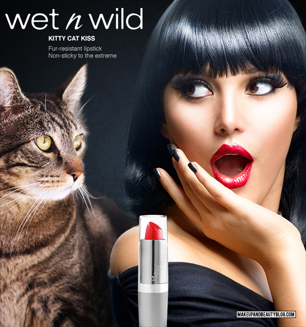 Tabs the Cat for Wet n Wild Kitty Cat Kiss Lipstick