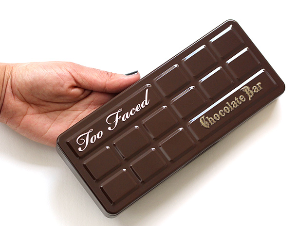 Too Faced Chocolate Bar in my hand for scale