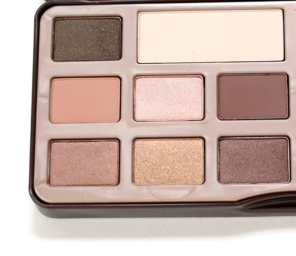 Left half of the Too Faced Chocolate Bar palette
