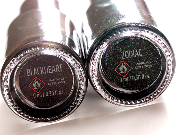 Urban Decay Blackheart Nail Color and Zodiac Nail Color