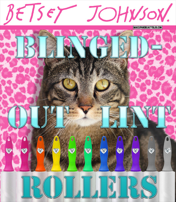 Tabs the Cat for Betsey Johnson Blinged-Out Lint Rollers