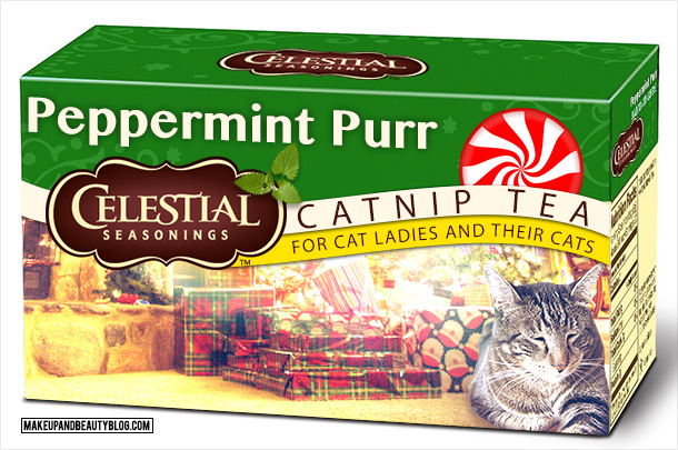 Tabs the Cat for Celestial Seasonings Peppermint Purr Catnip Tea