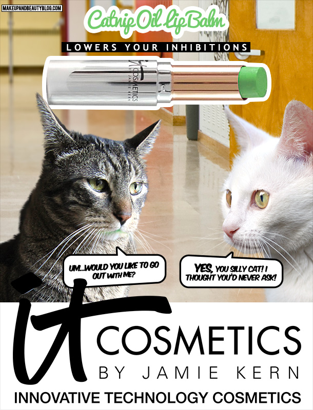 Tabs the Cat for It Cosmetics Catnip Lip Balm