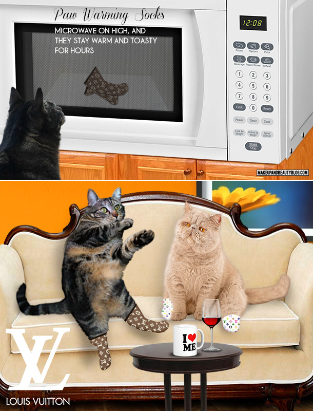Tabs for the Cat for Louis Vuitton Heated Paw Socks