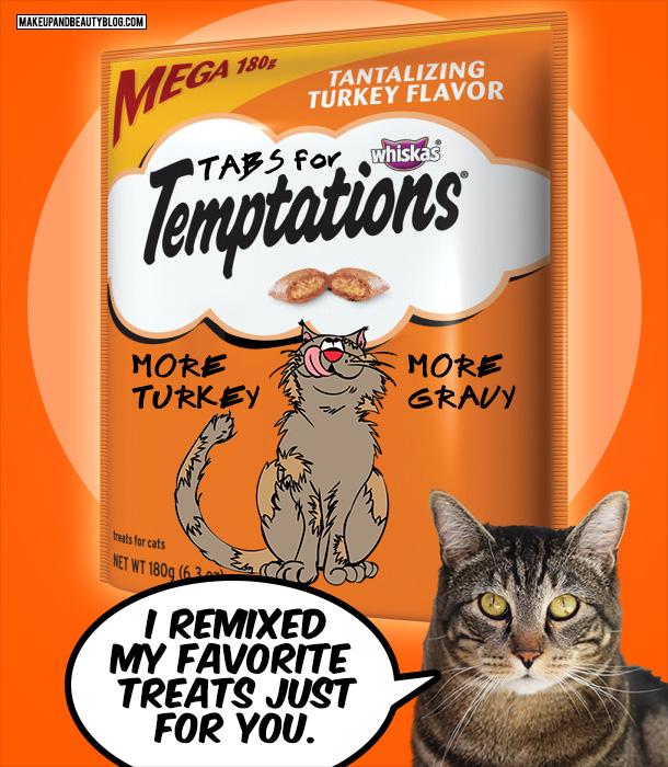 Tabs the Cat for Extra Turkey and Gravy Temptations Cat Treats