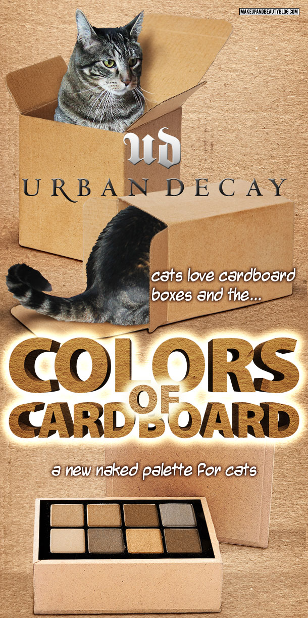 Tabs the Cat for the Urban Decay Colors of Cardboard Palette