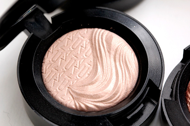 MAC A Natural Flirt Extra Dimension Eye Shadow, an iridescent light pink with a Metallic finish