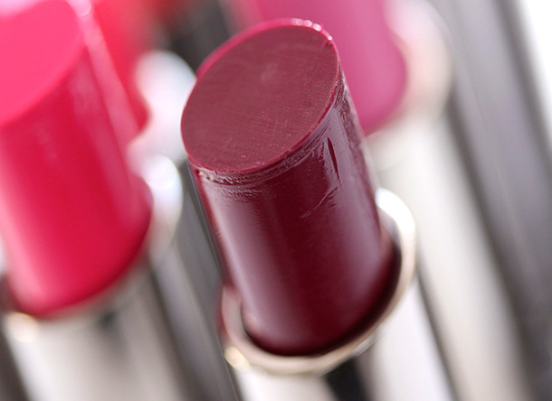 MAC Commotion Huggable Lipcolour, a deep cool plum with a cream finish