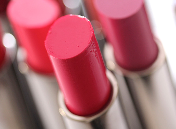 MAC Feeling Amorous Huggable Lipcolour, a mid-tone fuchsia with a cream finish