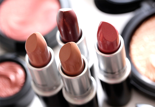 The four MAC Magnetic Nude Lipsticks, $15 each US and $18 CAN
