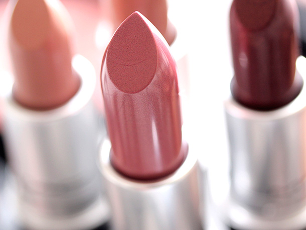 MAC Morning Rose Lipstick, a soft cool rose with a Cremesheen finish