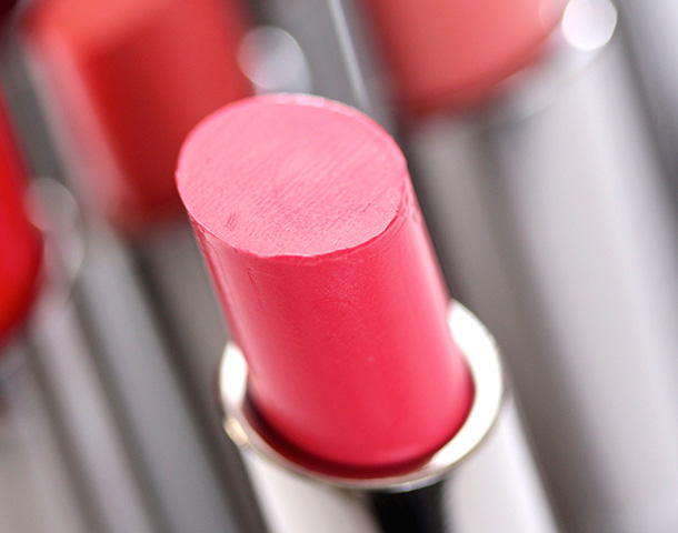 MAC Out for Passion Huggable Lipcolour, a soft warm rose with a cream finish