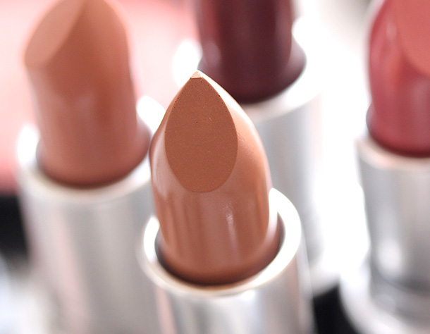 MAC Sensual Sparks Lipstick, a dirty cool caramel with an Amplified finish