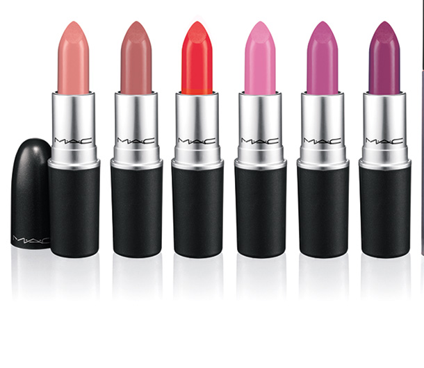 MAC A Fantasy of Flowers Lipsticks from the left: Fleur D'Coral, Naked Bud, Dreaming Dahlia, Rose Lily, Snapdragon and Heavenly Hybrid
