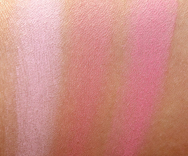 NARS Final Cut Collection Blush Swatches from the left: Sex Fantasy, Love and New Attitude
